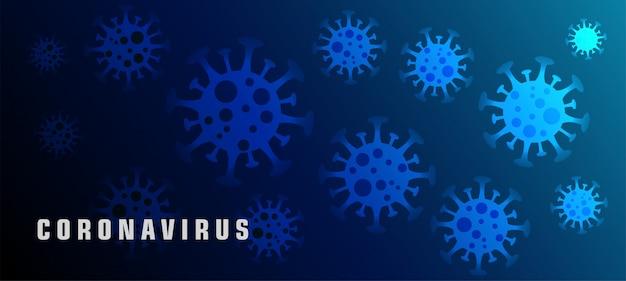 Концепция вирусных баннеров coronavirus ncov или covid-19 Бесплатные векторы