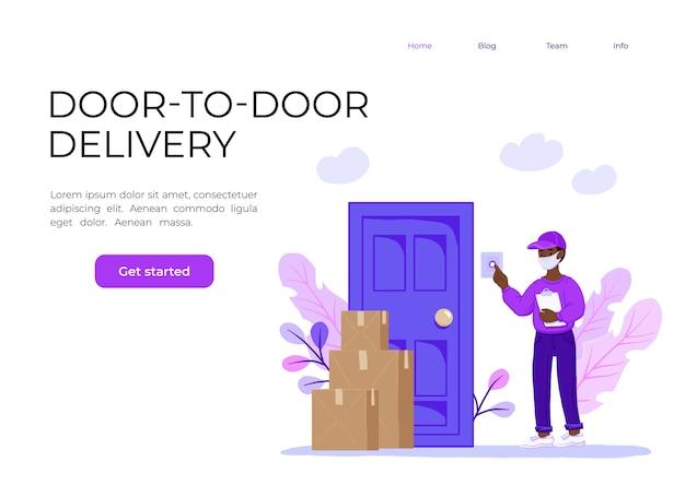 Coronavirus novel virus 2019-ncov delivery of food Premium Vector