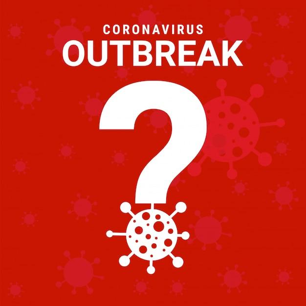 Знак коронавирусной вспышки Premium векторы