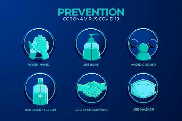 Coronavirus prevention infographic Free Vector
