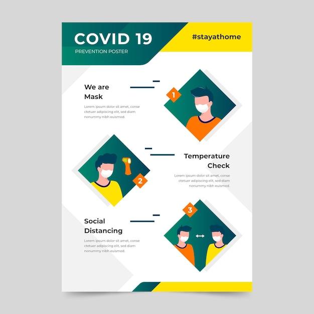 Poster di prevenzione del coronavirus Vettore gratuito