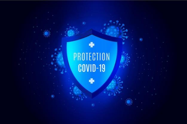 Sfondo scudo di protezione contro il coronavirus Vettore gratuito