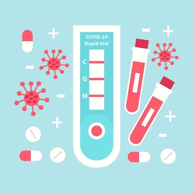 コロナウイルス迅速検査のコンセプト 無料ベクター