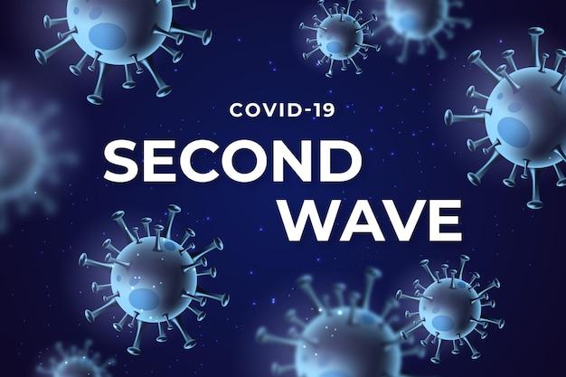 Sfondo della seconda ondata di coronavirus Vettore gratuito
