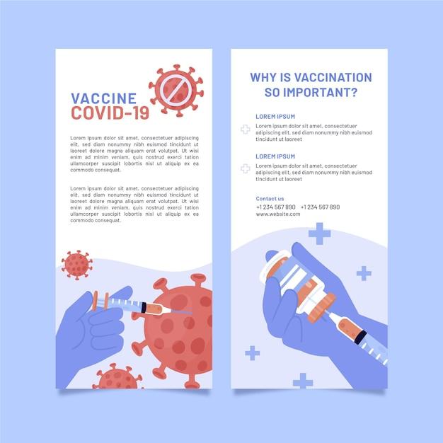 Coronavirus vaccination informative brochure Free Vector