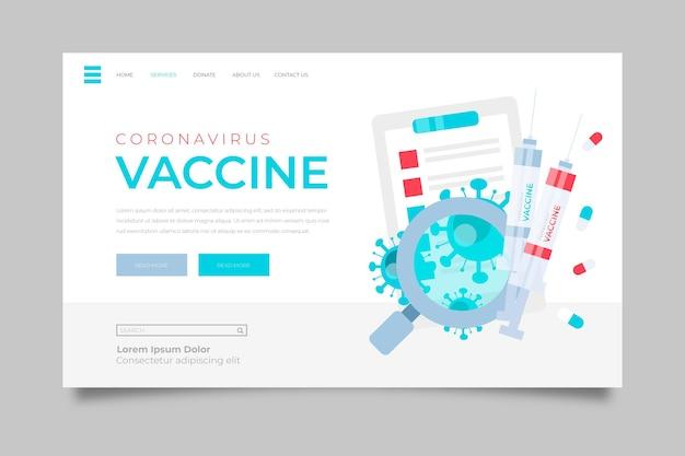 Concetto di sviluppo del vaccino contro il coronavirus Vettore gratuito