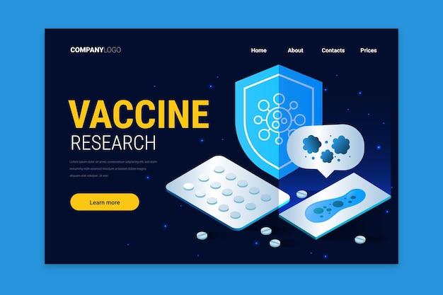 コロナウイルスワクチン開発-ランディングページ 無料ベクター