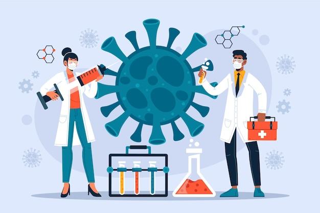 Free Vector | Coronavirus vaccine development