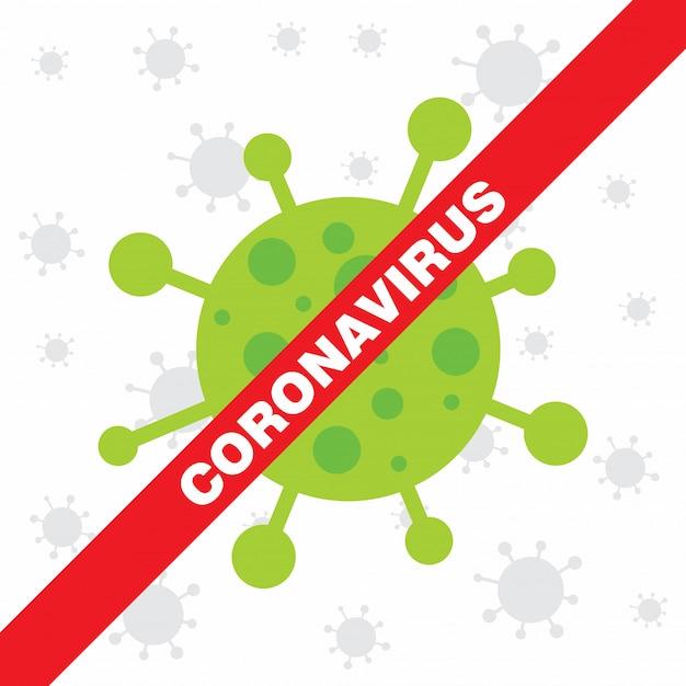 Coronavirus warning poster.  covid 19 sign. Premium Vector