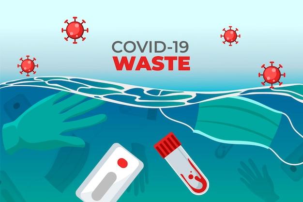 Rifiuti di coronavirus - sfondo Vettore gratuito