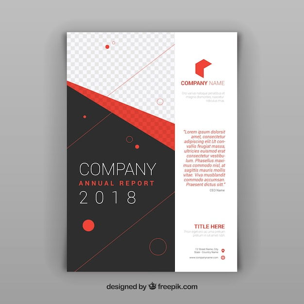 Corporate abstract brochure 2018 template