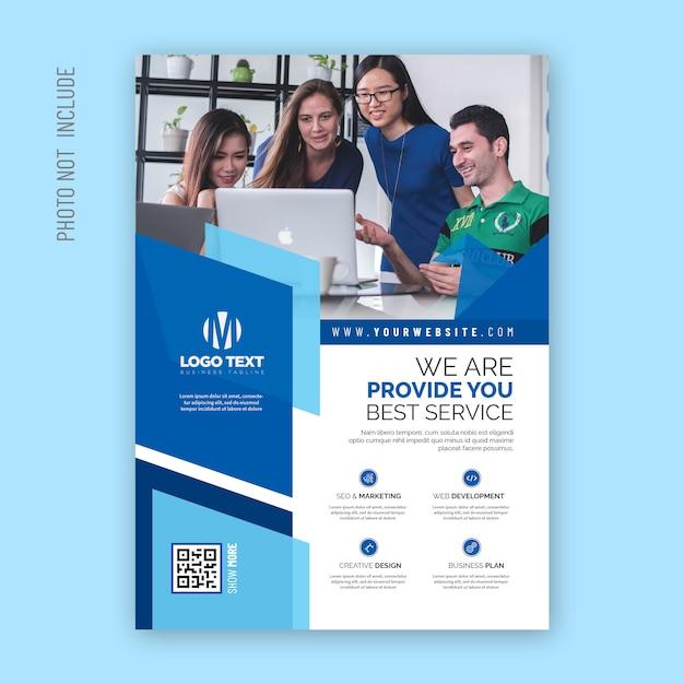 Corporate abstract  flyer design Premium Vector
