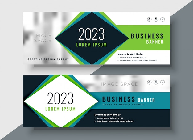 Corporate banner design for your business Free Vector