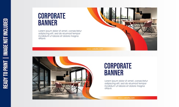 Corporate banner template Premium Vector