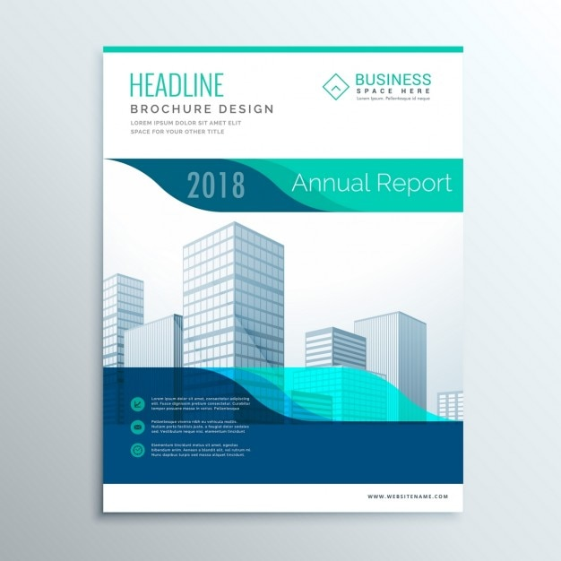Corporate blue brochure vector free download for Company brochure template free download