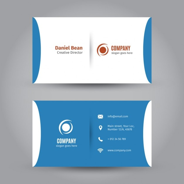 Corporate blue business card vector free download corporate blue business card free vector reheart Images