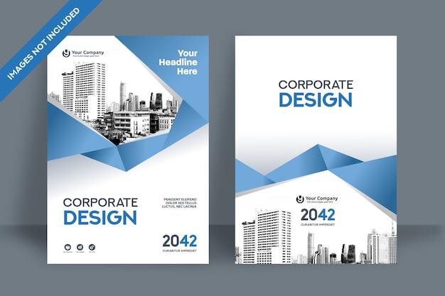 Corporate book cover design template in a4. Premium Vector