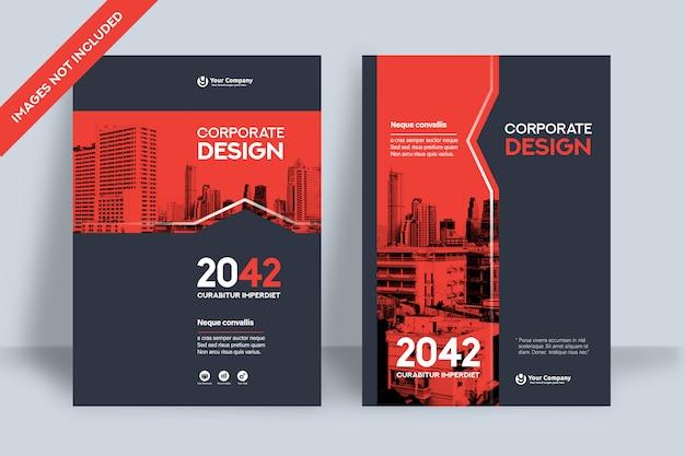A4의 회사 책 표지 디자인 템플릿. 프리미엄 벡터