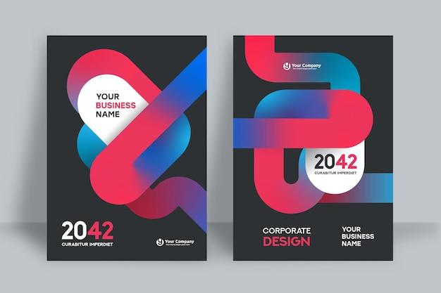 Corporate book cover design template Premium Vector