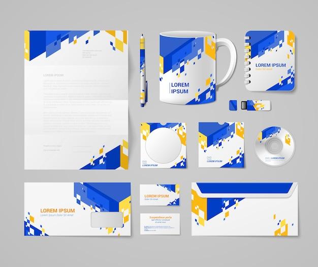 Corporate  brand book Premium Vector