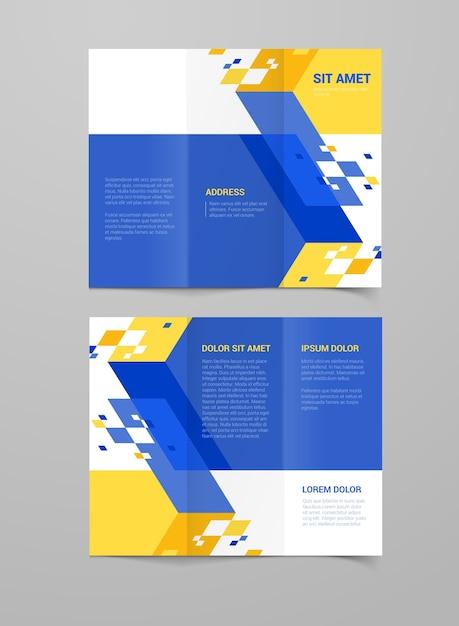 Corporate  brand book Free Vector