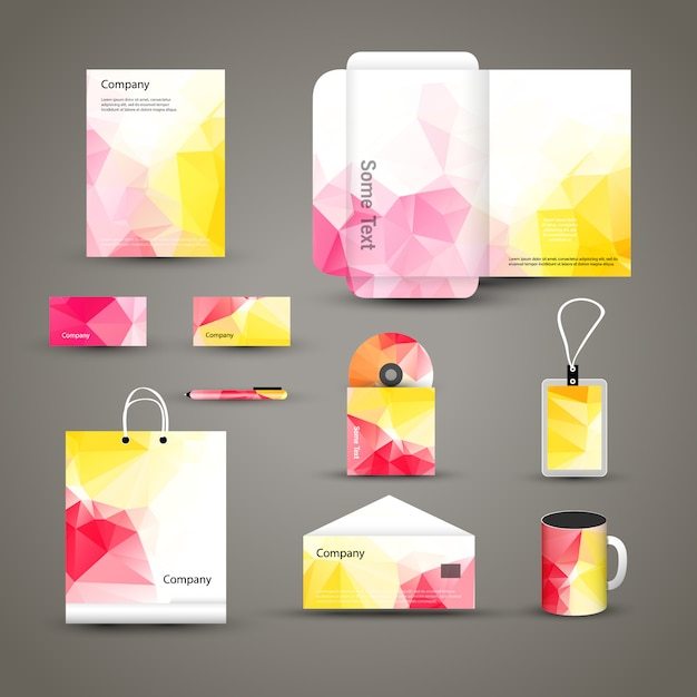 Corporate brand business identity design template layout Premium Vector