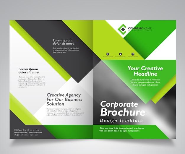 Corporate brochure design template Premium Vector