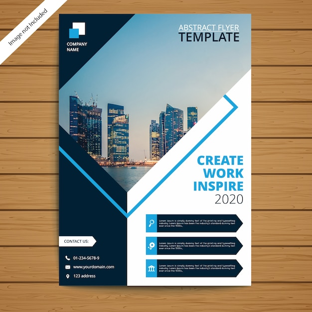 Corporate brochure flyer template Premium Vector