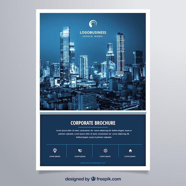 Corporate brochure modern and elegant Free Vector