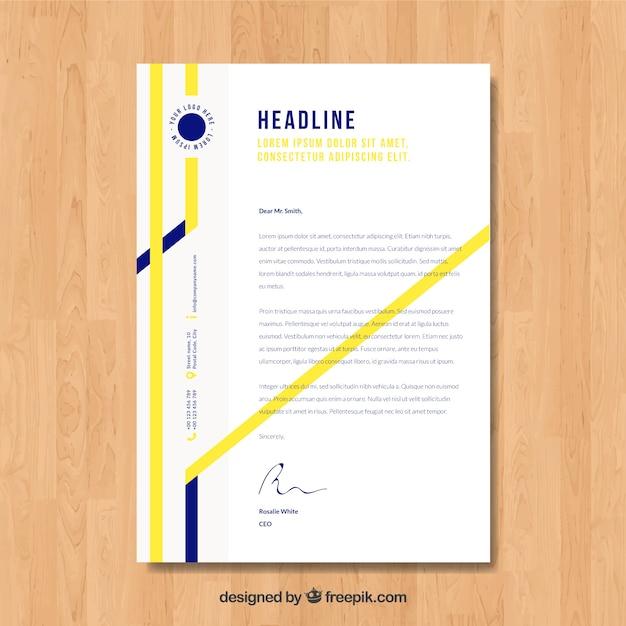 Corporate brochure, modern geometric style