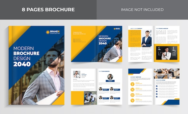 Корпоративный шаблон брошюры, шаблон брошюры о компании, дизайн шаблона бизнес-брошюры, дизайн шаблона брошюры страниц Premium векторы