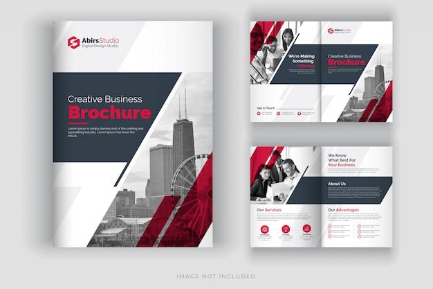 Corporate brochure template or company profile Premium Vector