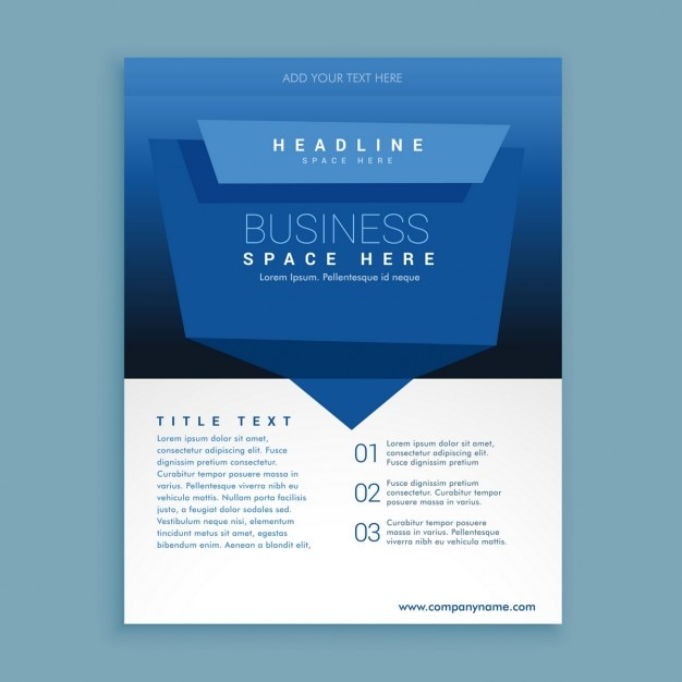 Corporate Brochure Template In Abstract Design Vector | Free Download