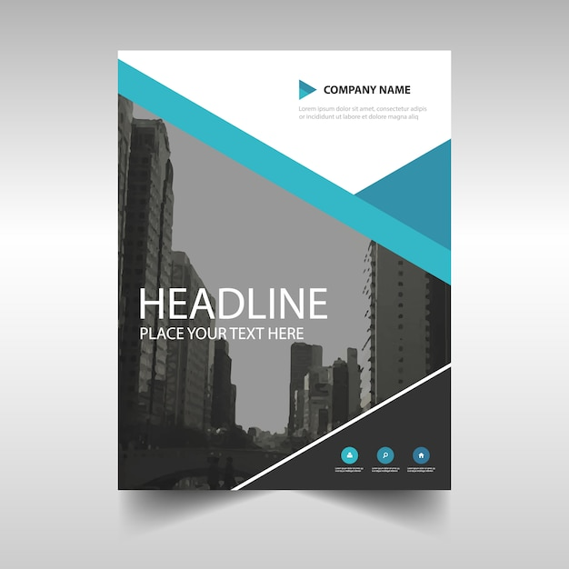 Corporate brochure template with blue geometric lines vector free corporate brochure template with blue geometric lines free vector saigontimesfo
