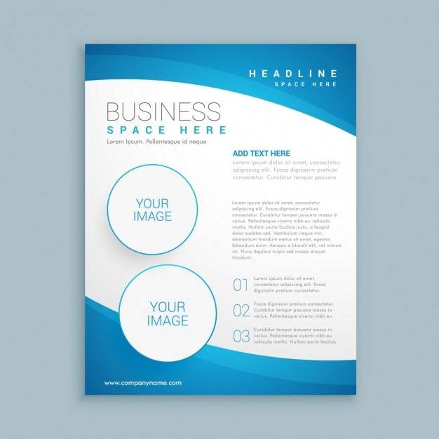 corporate brochure template vector free download
