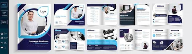 Corporate brochure template Premium Vector