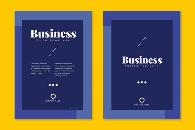 Corporate brochure templates Free Vector