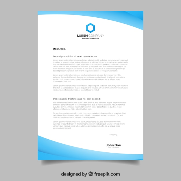 Corporate brochure, wavy style with blue shapes