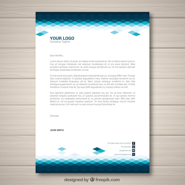 Corporate brochure with blue tones