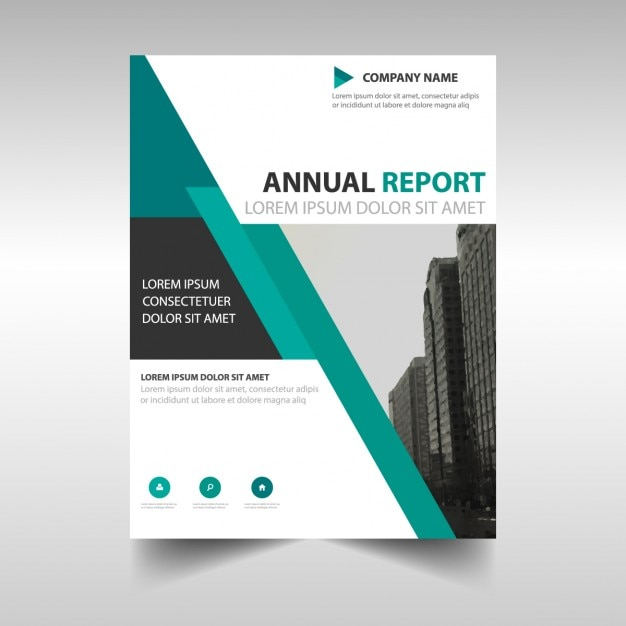 Corporate Brochure With Geometric Lines Vector Free Download