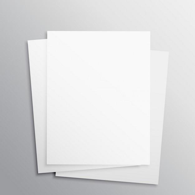 Corporate brochures, mock up Free Vector