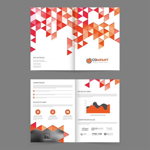 Corporate business annual report Brochure design, Professional ...