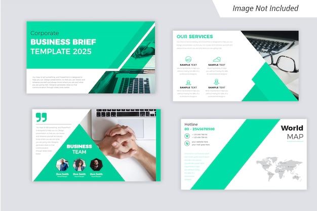 The corporate business brief presentation slides design Premium Vector