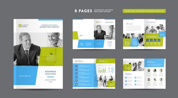 Корпоративный бизнес брошюра дизайн | годовой отчет и профиль компании | шаблон оформления буклета и каталога Premium векторы