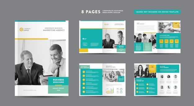 企業パンフレットのデザイン|アニュアルレポートと会社概要|小冊子とカタログのデザイン Premiumベクター