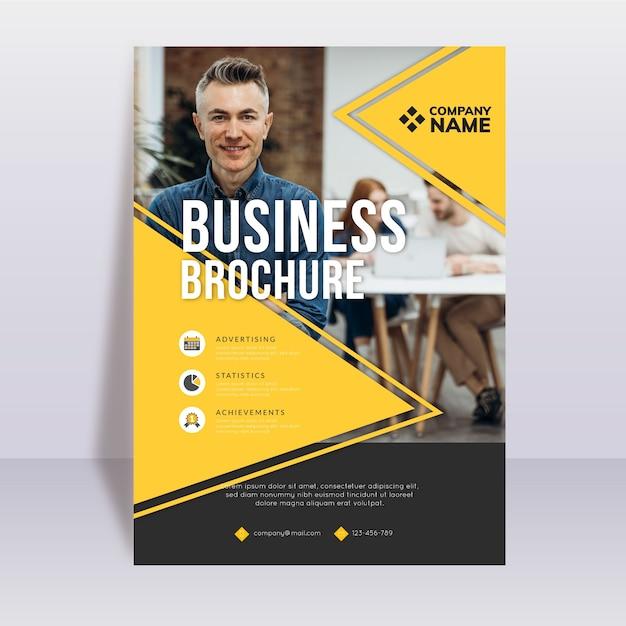 Modello di brochure aziendale aziendale Vettore gratuito