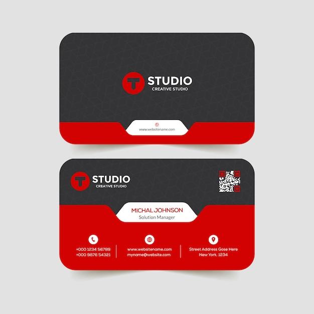 Corporate business card design  template Premium Vector