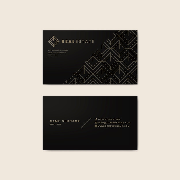 Corporate business card design template Free Vector