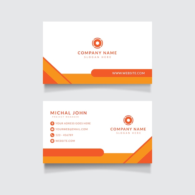 Corporate business card template Premium Vector
