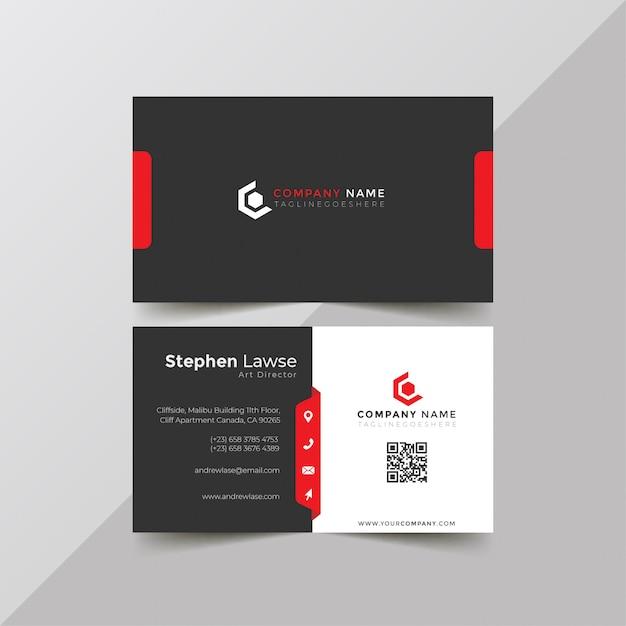 Corporate business card template Premium Vector